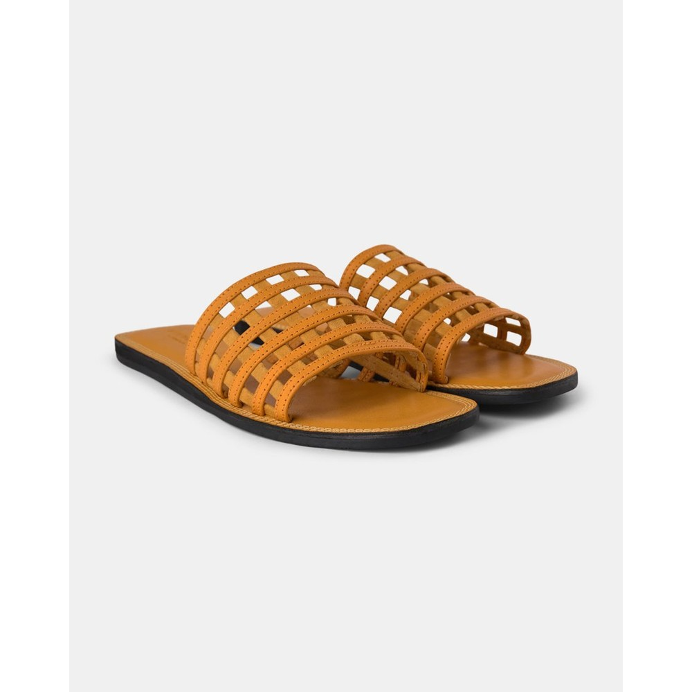 Shoe The Bear Tao Cage Sandal Yellow