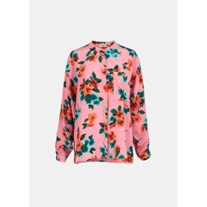 Essentiel Antwerp Vanne Floral/Dot Silk Shirt Pink/Multi