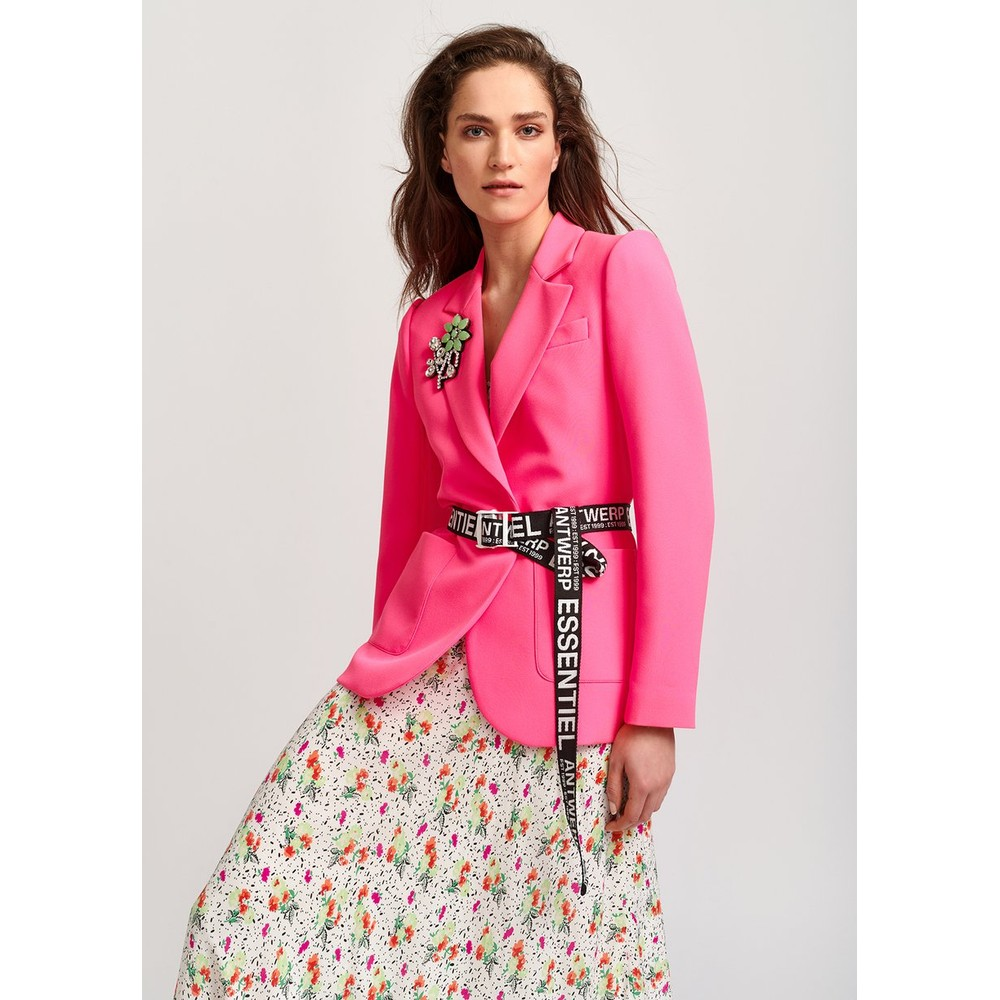 Essentiel Antwerp Vactive Single Breasted Blazer Neon Pink