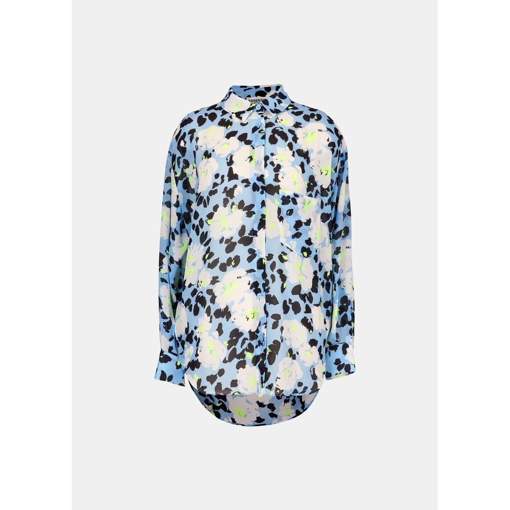 Essentiel Antwerp Veccioni Floral O/Sized Shirt Pale Blue/Multi