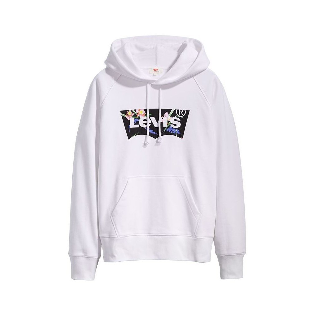 Levis Graphic Sport Hoodie Filled BW White