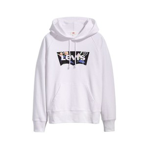 Graphic Sport Hoodie Filled BW White