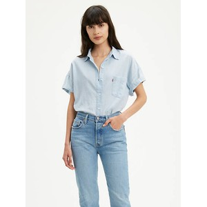 Levis The S/S Alexandra Shirt Mid Wash
