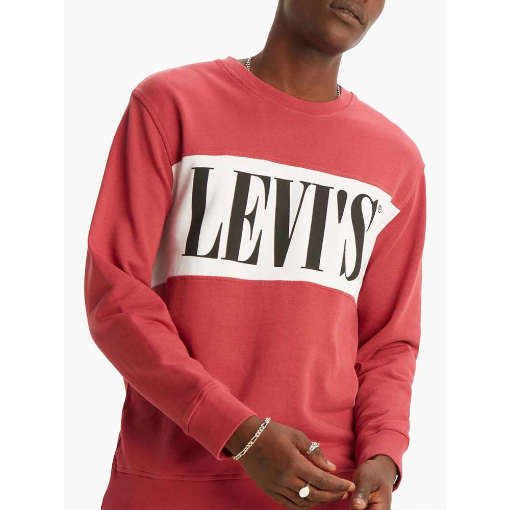 Levis Logo Colourblock Crew Earth Red/White/Black