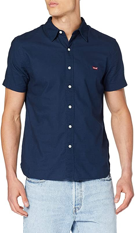 Levis SS Battery Hm Slim Fit Shirt Dress Blues