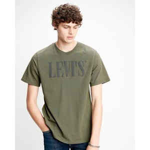 90s Serif Logo Relaxed Tee Olive Night