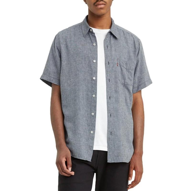Levis S/S Sunset 1 Pkt Shirt Dress Blues
