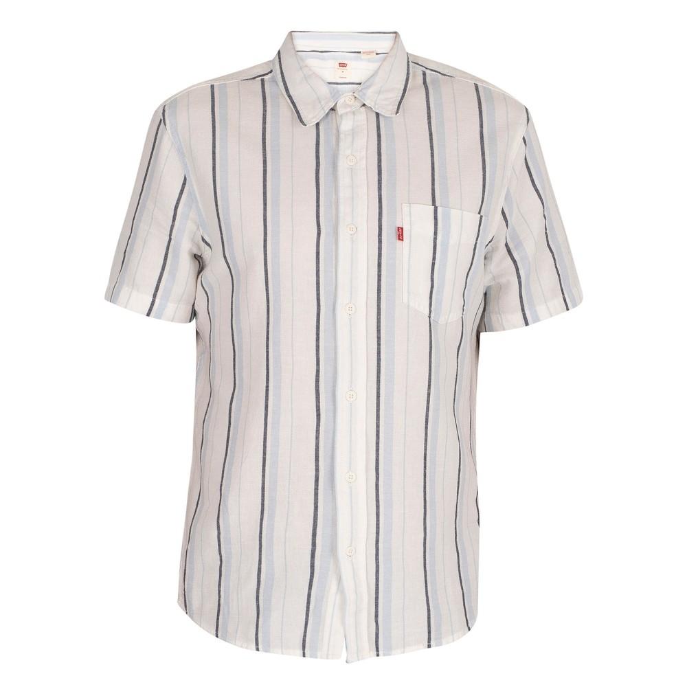 Levis S/S Classic 1Pk Stripe Shirt Alton/Cloud