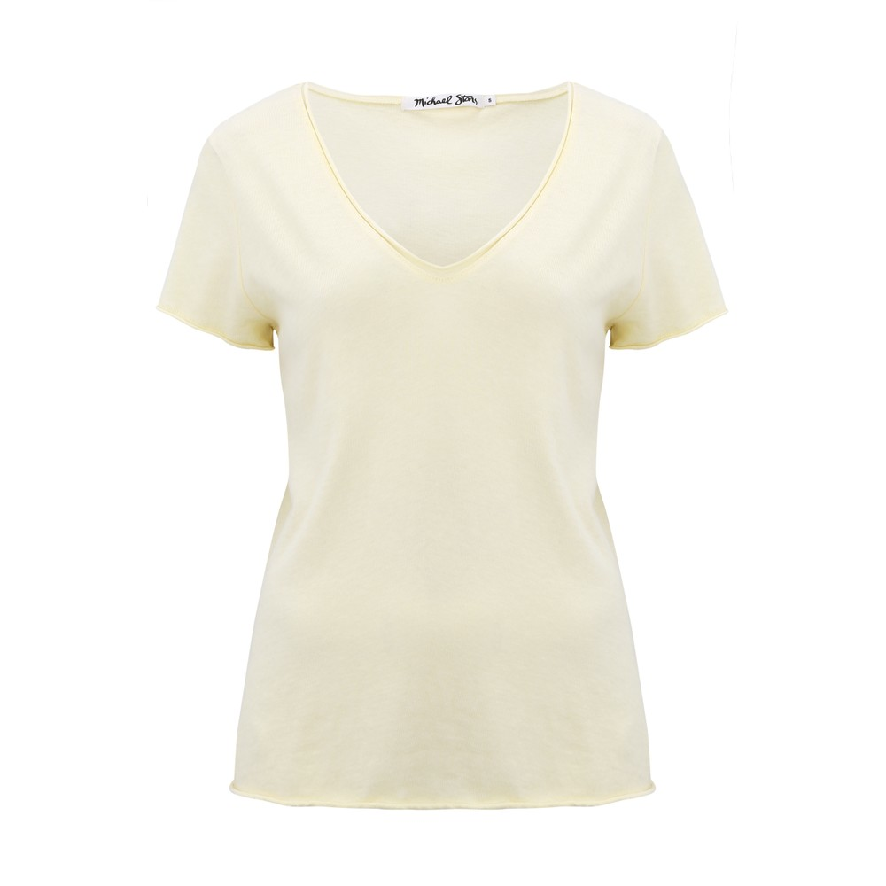 Michael Stars Jade V Neck T Shirt Lemonade