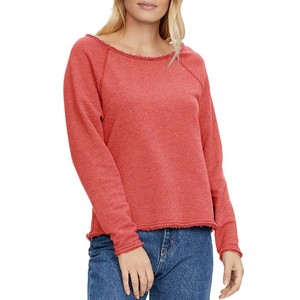 Sheena BoatNk Raw Edge Sweater Geranium