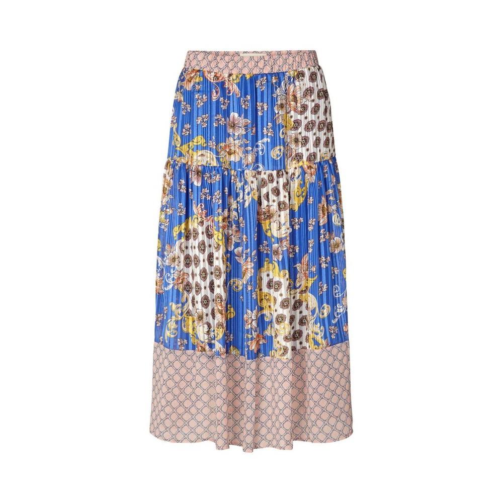 Lollys Laundry Cokko Patterned/Lurex Skirt Blue/Multi