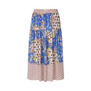 Cokko Patterned/Lurex Skirt Blue/Multi
