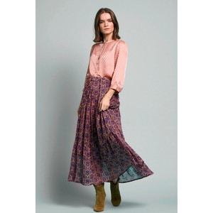 Bonny Floral/Lurex Skirt Purple/Multi