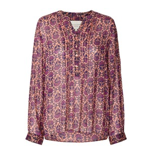 Helena Floral/Lurex Blouse Purple/Multi