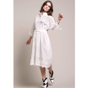 Tumi Emb Anglaise Dress White