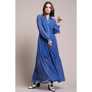Penny Shirt Dress w/Slip Blue/Black