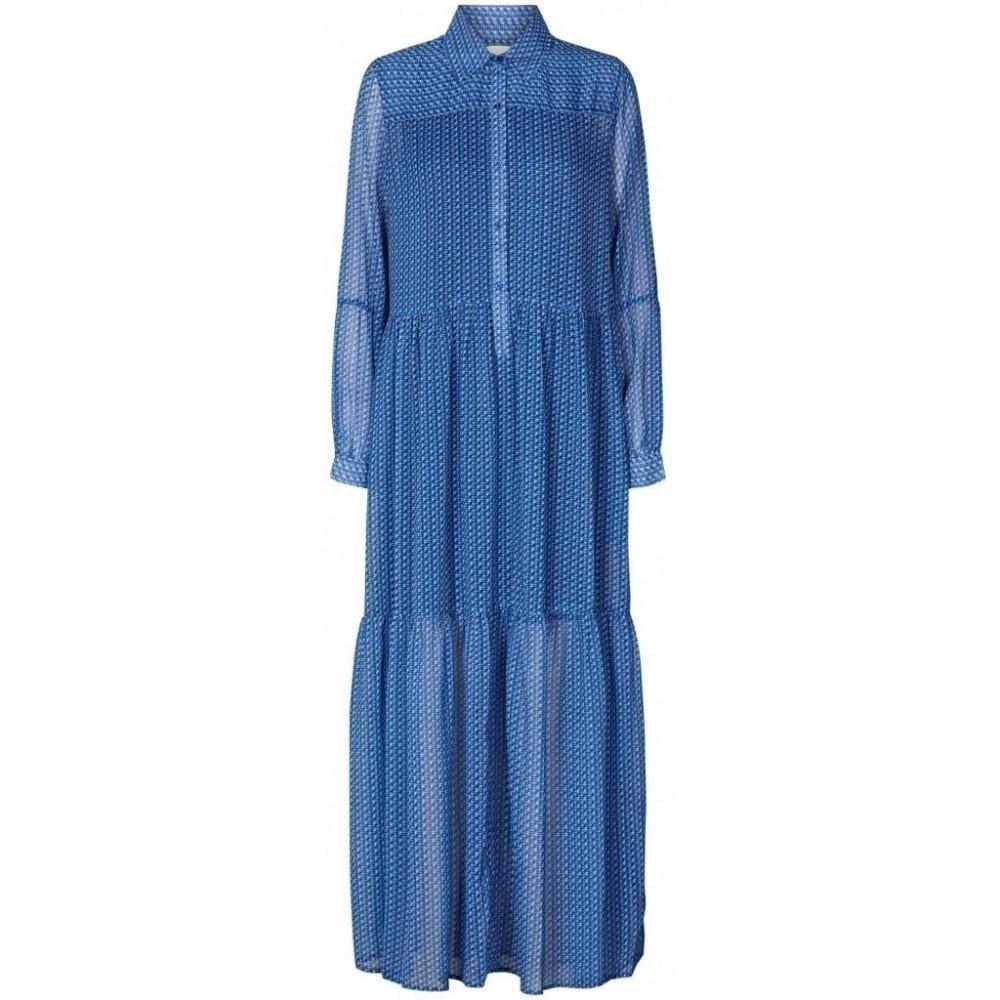 Lollys Laundry Penny Shirt Dress w/Slip Blue/Black
