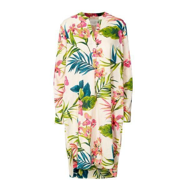 Lollys Laundry Lucca Floral Shirt Dress Ecru/Multi