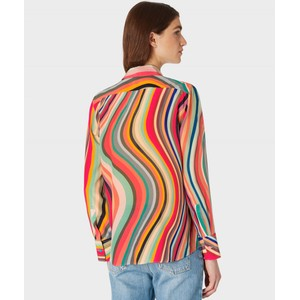 Paul Smith Womens Swirl Print Silk Shirt Multicolour