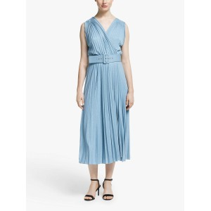 Geode S/L Pleated Dress Light Blue