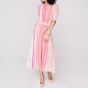 Girotta Lurex Knit Dress Multi Pink