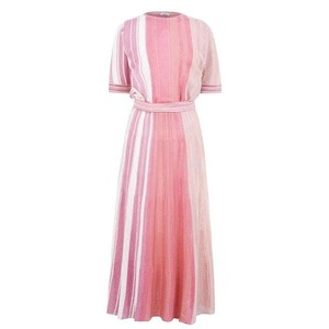 Marella Girotta Lurex Knit Dress Multi Pink