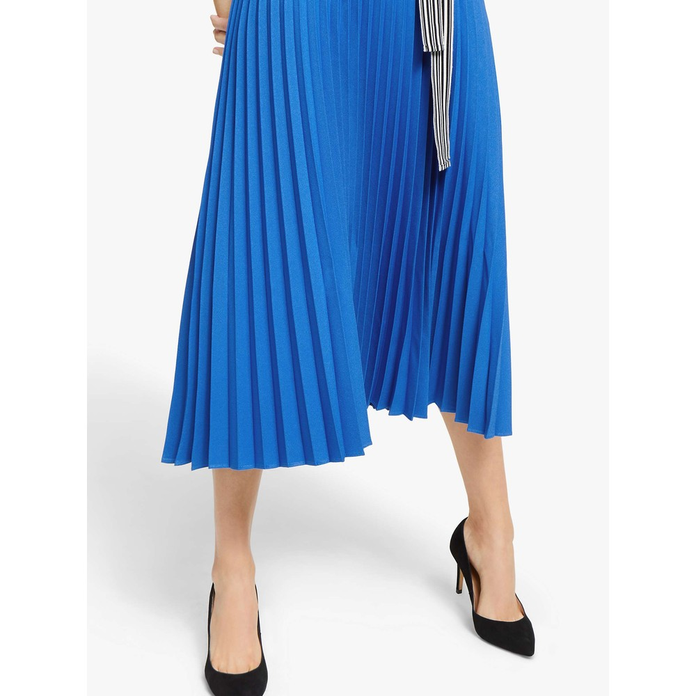 Marella Xiria Pleated Dress Deep Blue