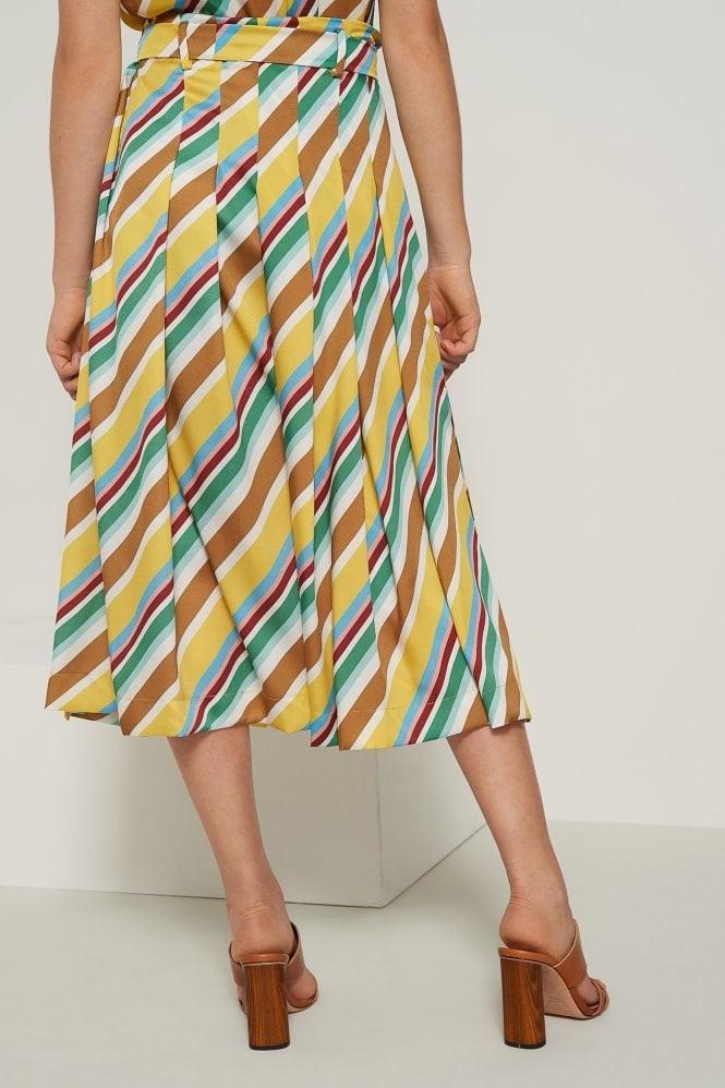 Marella Aidin Stripe Culottes Yellow/Multi