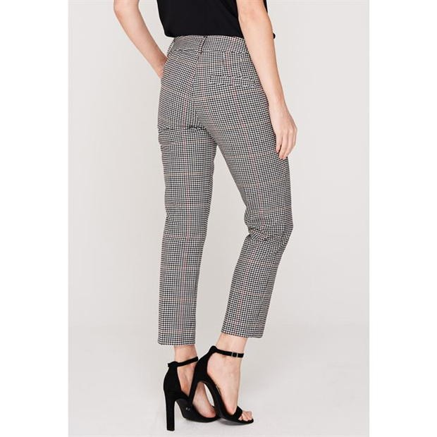 Marella Sulmona Check Trousers Black/White