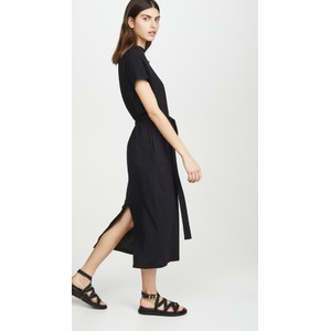 Aida SS Belted Maxi Dress Black