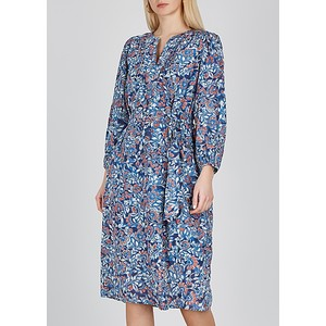 Beau L/S Floral Dress w Belt Henna