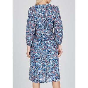 Velvet Beau L/S Floral Dress w Belt Henna
