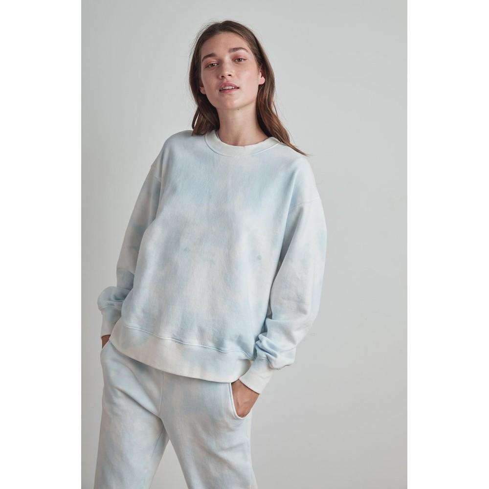 Velvet Kelsey Over/S Tie Dye Sweater Blue/White