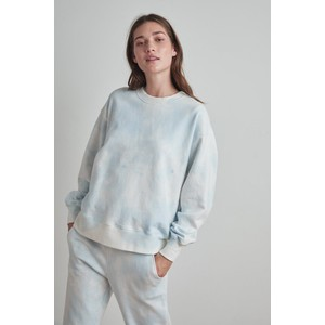Kelsey Over/S Tie Dye Sweater Blue/White