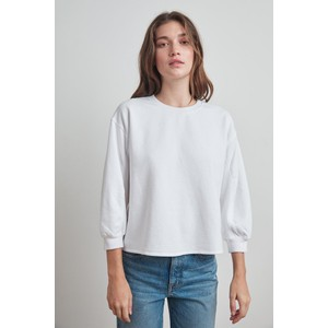 Addilyn Crew Nk Sweater White