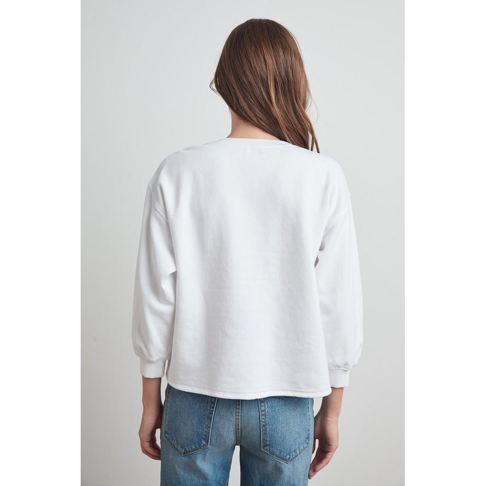 Velvet Addilyn Crew Nk Sweater White