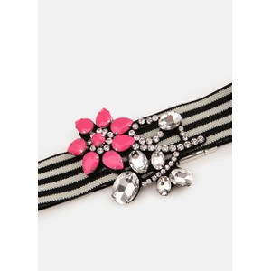 Essentiel Antwerp Vavalon Floral Stretch Belt Silver/Pink