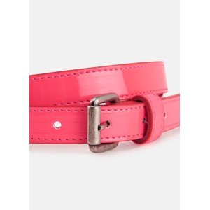 Essentiel Antwerp Velora Patent Belt in Neon Pink