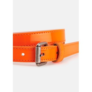 Essentiel Antwerp Velora Patent Belt in Neon Orange