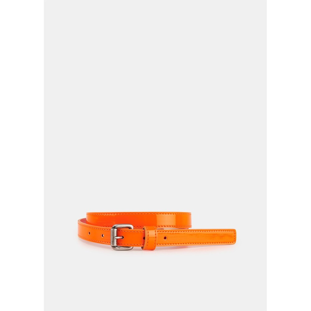 Essentiel Antwerp Velora Patent Belt Neon Orange