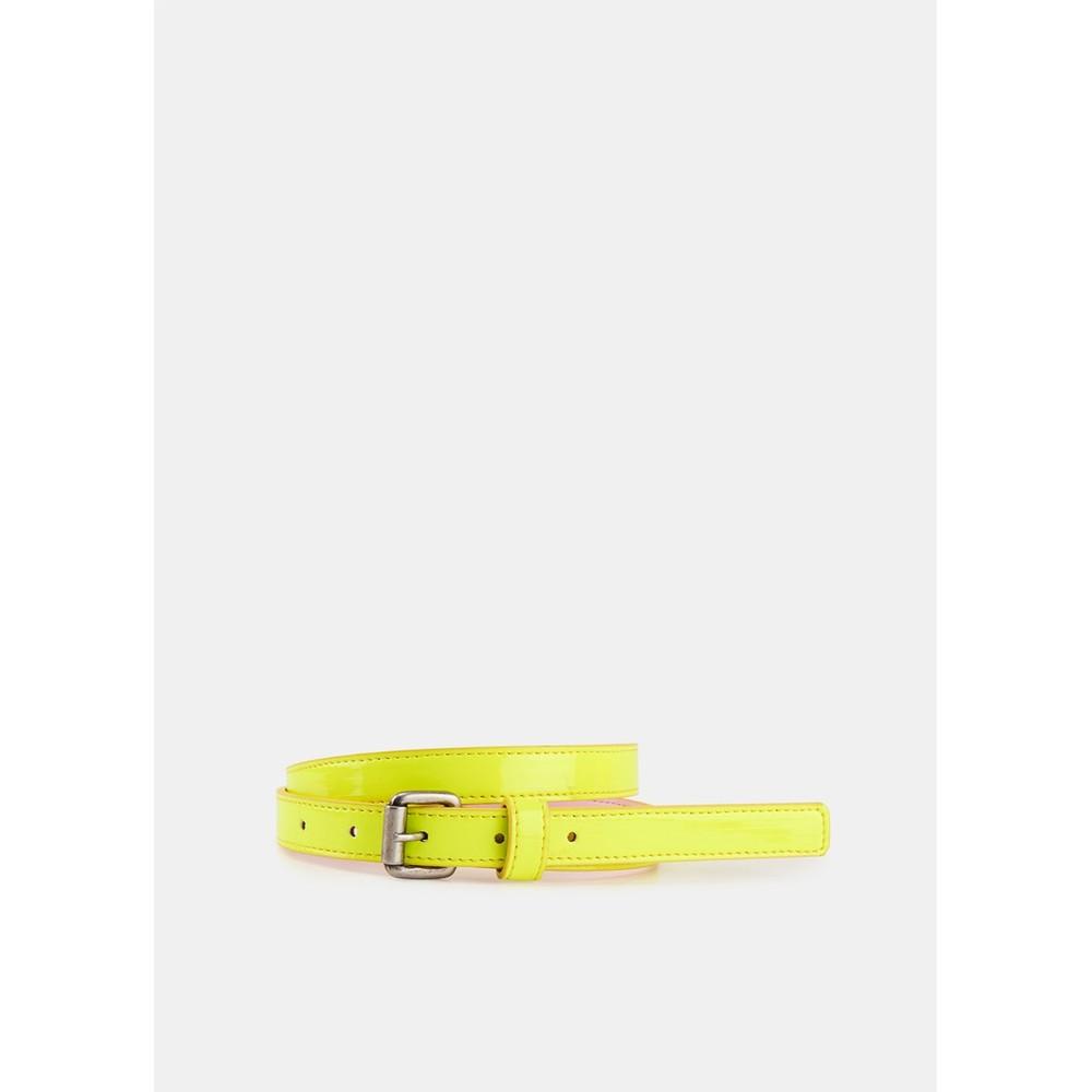 Essentiel Antwerp Velora Patent Belt Neon Yellow