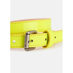 Essentiel Antwerp Velora Patent Belt in Neon Yellow
