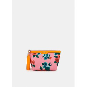 Essentiel Antwerp Venidorm Floral Print Pouch in Neon Orange/Pink