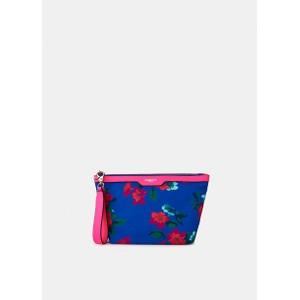 Venidorm Floral Print Pouch Neon Pink/Bright Blue