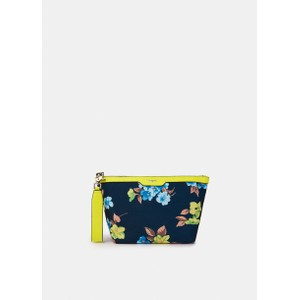 Venidorm Floral Print Pouch Neon Yellow/Navy