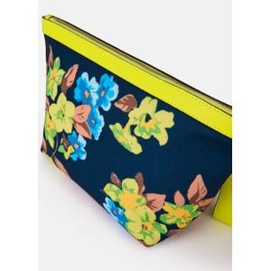 Essentiel Antwerp Venidorm Floral Print Pouch Neon Yellow/Navy