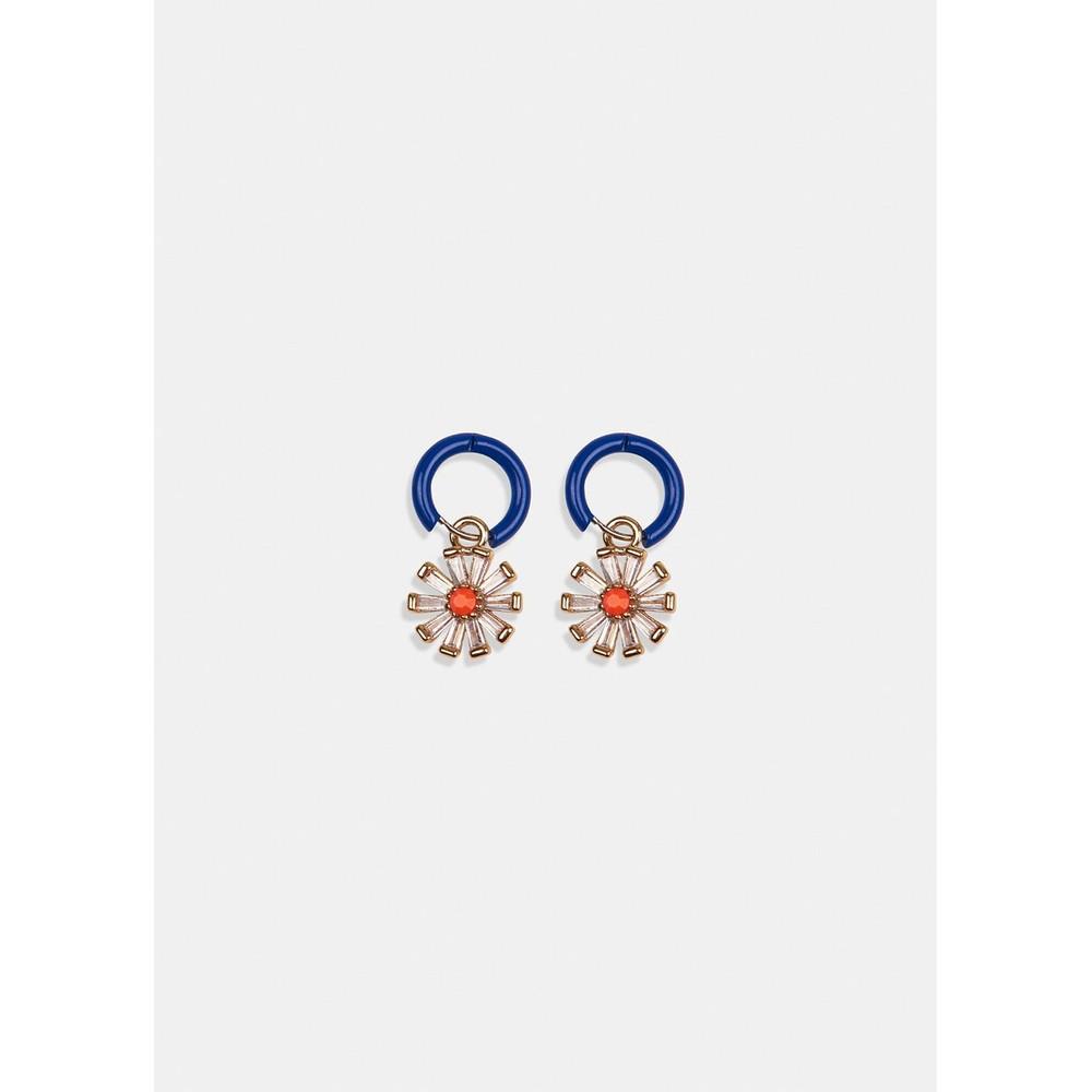 Essentiel Antwerp Varri Flower Hoop Earrings Gold/Blue/Orange