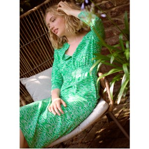 Primrose Park Tiffany Tiger Print Dress Green