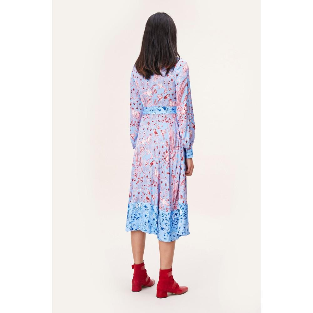 Stine Goya Reflection V/N Wrap Dress Jungle Scene Pink