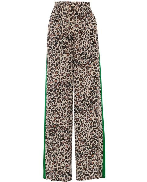 Primrose Park Kylie Leopard Trousers w Strp Brown/Green